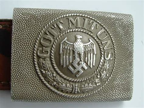 gott mit uns belt buckle real  fake