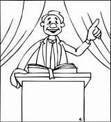Preacher Pastor Template sketch template