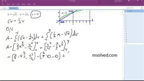 Y = Sqrt(x), Y = (1/2)x, X=9