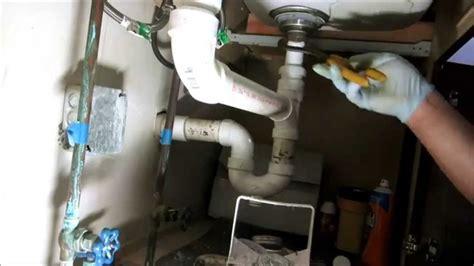 kitchen sink drain pipe replacedplumbing tips youtube