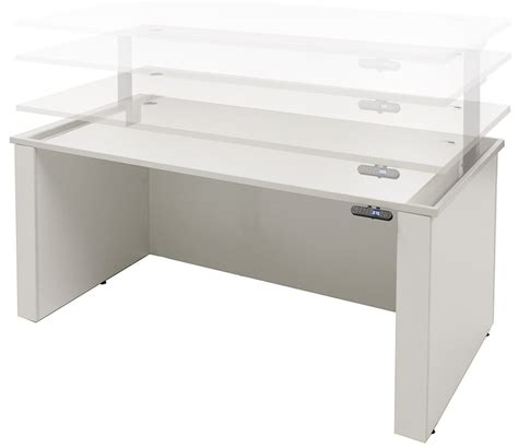 Office Desk Height by Adjustable Height U Shaped Executive Office Desk W Hutch