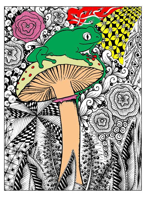 jungle forest coloring pages  adults justcolor
