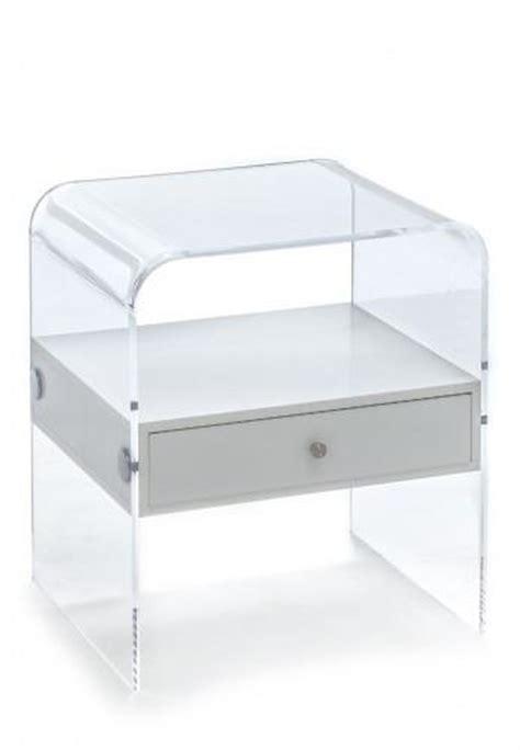 Comodino Trasparente Comodino Plexiglass Acrilico Trasparente Cassetto Bianco