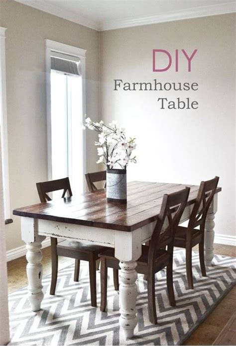 Decorating Ideas For Kitchen Tables by 17 Best Rustic Diy Farmhouse Table Ideas And Designs For 2019