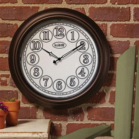 indoor outdoor lighted wall clock at acorn xb2492
