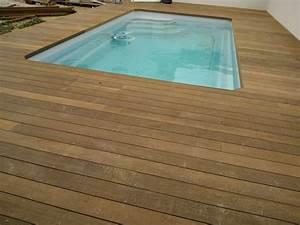 Bois Pour Terrasse Piscine : terrasse en bois parquet plage de piscine marseille ~ Edinachiropracticcenter.com Idées de Décoration