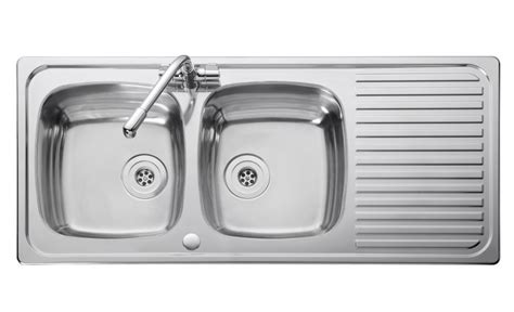 bowl kitchen sink leisure linear lr1160db 2 0 bowl 1th stainless steel 6514