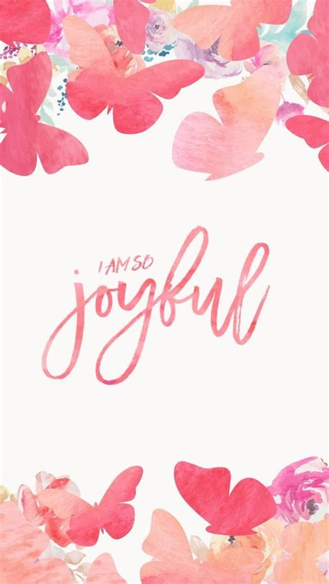Calligraphy Home Screen Bible Verse Wallpaper by I Am So Joyful Positive Vibes In 2019