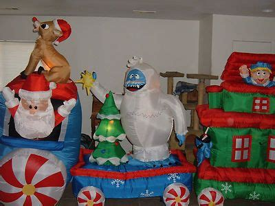 gemmy airblown inflatable animated rudolph  misfits