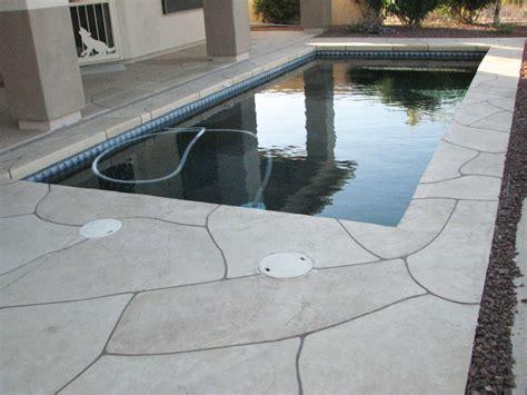 Faux Flagstone   Pool Decking   Sledge Concrete Coatings