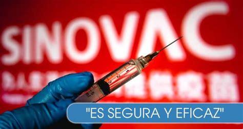 50,38% de eficacia en base a. Vacuna de Sinovac: un estudio confirma su efectividad ...