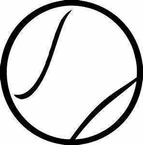 OnlineLabels Clip Art - Black & White Tennis Ball