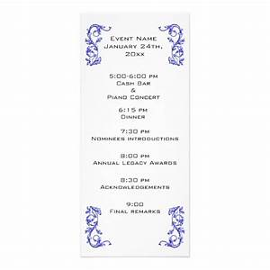 customized event program template personalized rack card With event program design templates