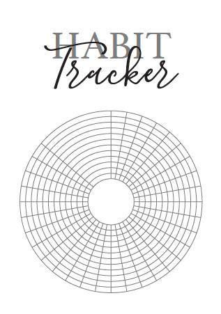 circular habit tracker grid pack bullet journal style