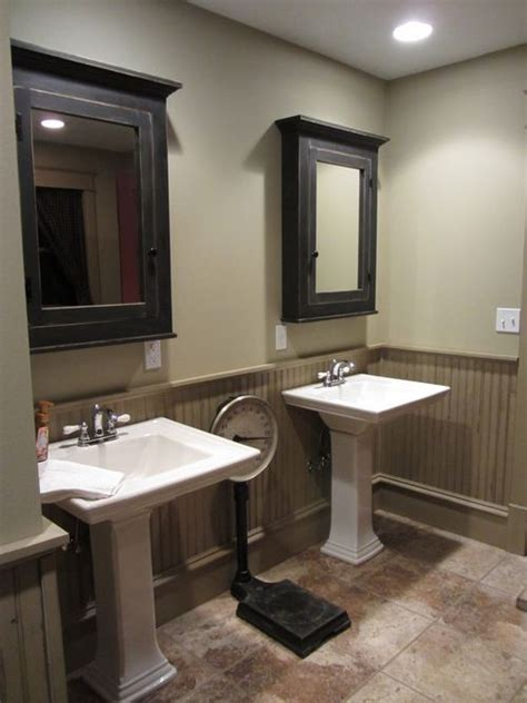 Painting Bathroom Cabinets Color Ideas by Painting Beadboard A Different Colorne Cabinets Two Tone