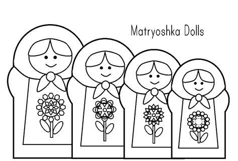 Matryoshka Doll Coloring Page #2