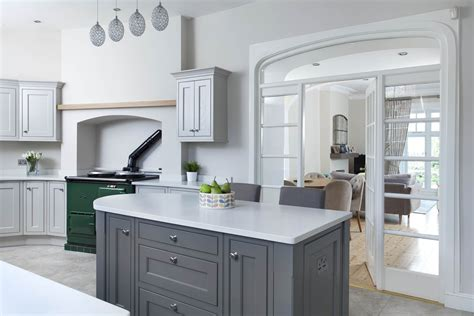 farrow and grey kitchen cabinets handcrafted bespoke kitchen handpainted in white and 9872