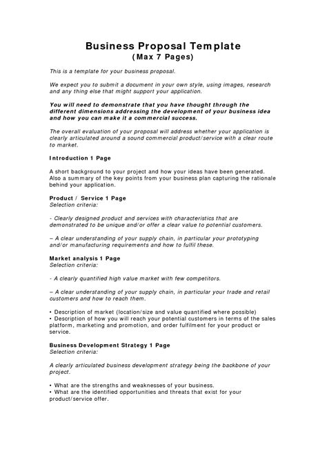 business proposal templates examples business proposal