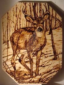 Woodburning - Deer by AnastasiasArts on DeviantArt