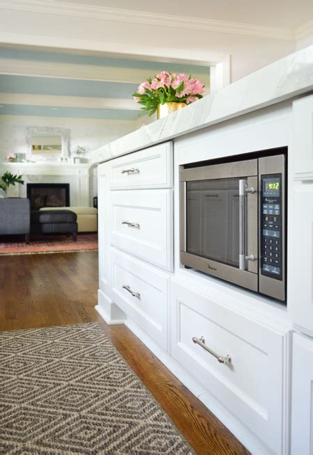 microwave in island in kitchen kitchen remodel chapter 2 gutting rebuilding young house love