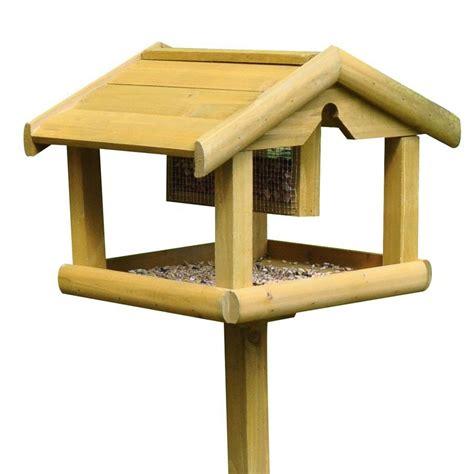 kingfisher premium bird table with feeder garden mall