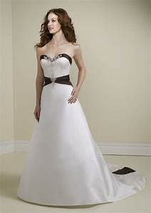 black and white strapless wedding gown sang maestro With black white wedding dresses
