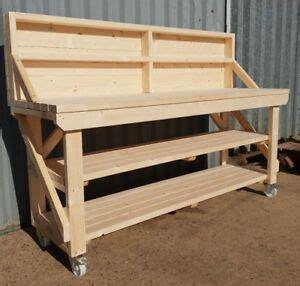wooden workbench worktable workshop bench heavy
