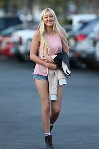 AVA SAMBORA in Jeans Shorts Out and About in Calabasas ...