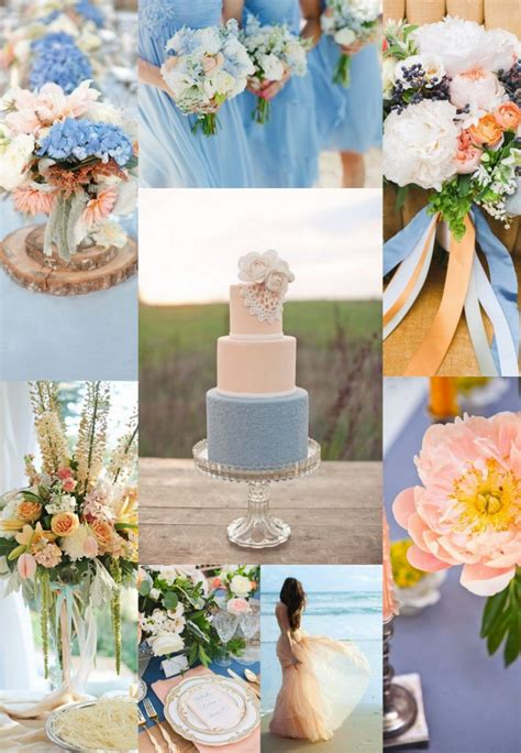 wedding  colors blue  peach arabia weddings