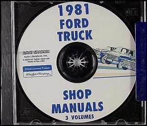 1981 Ford Truck Repair Shop Manual F100