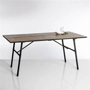 Table Pliante Metal : table de jardin pliante bois et m tal sohan table de ~ Teatrodelosmanantiales.com Idées de Décoration
