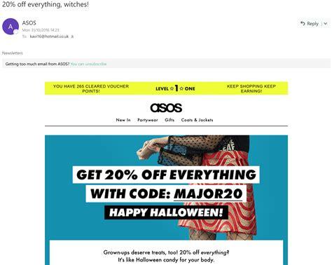 asos emails  attractive   deals digital marketing fabulous  faux pas
