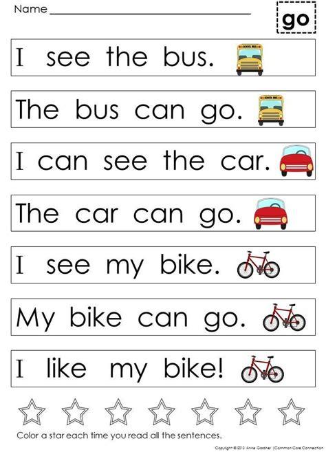 kindergarten sight word sentences for guided reading 946 | cb1d3d0fdac0e9dba468cafa1a7191d8