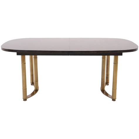 brass dining table base harvey probber expandable burl dining table with cast