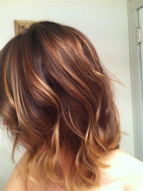 warm brown hair color hair color warm brown ombr 233 wavy bob warm