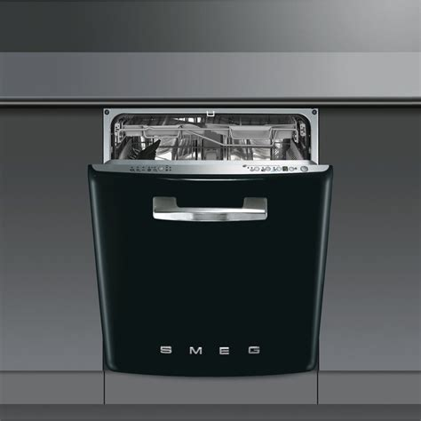 two dishwashers one smeg di6fabne2 60cm built in black dishwasher