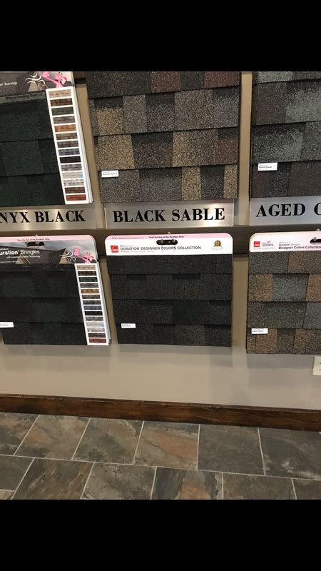 roofing shingles  black sable  owens corning