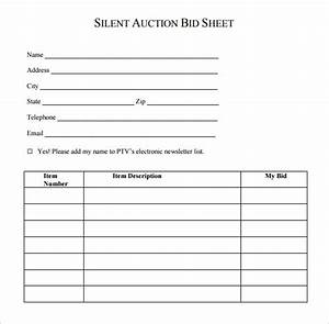 silent auction program template - 19 sample silent auction bid sheet templates to download