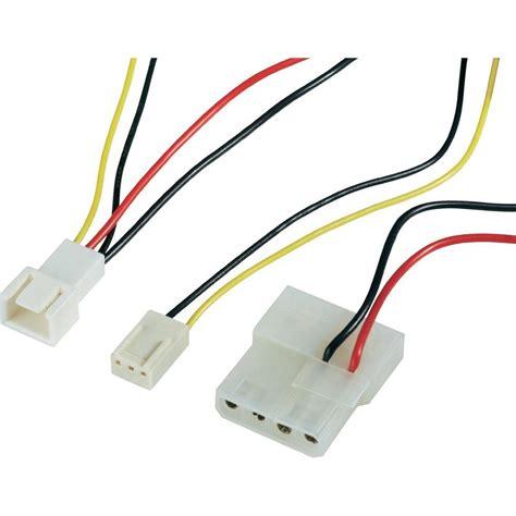 3 pin fan connector to 4 pin pc fan cable 1x pc fan plug 3 pin 1x ide power socket 4