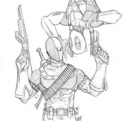 Deadpool vs Deathstroke Coloring Pages