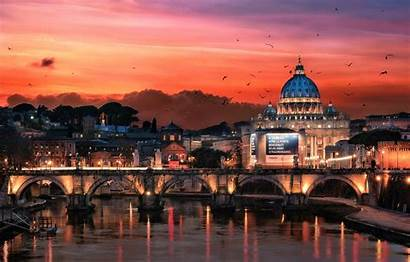 Rome Italy Night Desktop Background Backgrounds Wallpapers
