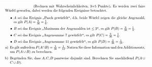 Auflagerreaktion Berechnen : wahrscheinlichkeitsrechnung rechnen mit wahrscheinlichkeiten mengen mathelounge ~ Themetempest.com Abrechnung