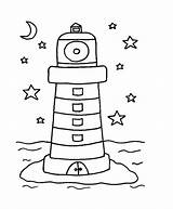 Lighthouse Coloring Pages Printable Template Adults Coastal Templates Getcoloringpages Preschool Bestcoloringpagesforkids sketch template