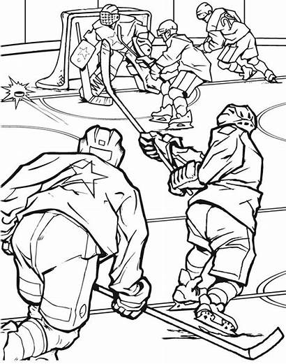 Hockey Coloring Pages Team Printable Field Super