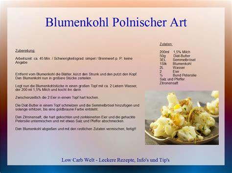 carb welt blumenkohl polnischer art