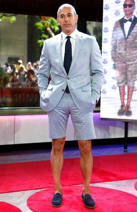 matt lauer channels pharrell williams style wears shorts