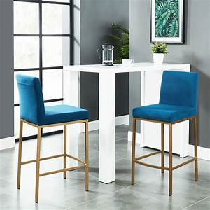 Nspire, Diego, 26, Inch, Counter, Stool, Set, Of, 2, -, Blue, And, Gold, Legs, Gl