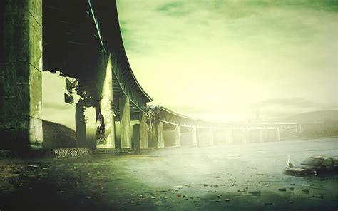 cool desktop wallpaper  bridge collapse picture