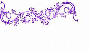 Flower Frame Purple Luke Horiz Clip Art at Clker.com ...