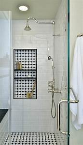 vous cherchez des idees pour un carrelage noir et blanc With carrelage adhesif salle de bain avec eclairage led rail